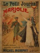 French WW1 poster - 'Le Petit journal' publiera 'Marjolie'